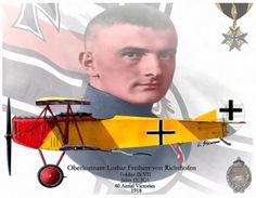 Oberleutnant Lothar Freiherr von Richthofen by A. Hermann