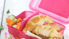 Oppskrift på horn med ost og skinke Horns, Cantaloupe, Lunch Box, Food And Drink, Cheese, Apple, Fruit, Breakfast, Kids