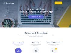 Connect App Landing page by Sauraj Babu #Design Popular #Dribbble #shots