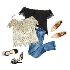 Lace Off-the-Shoulder tops for nights out l DAILYLOOK Elite - personal styling service delivered right to your door