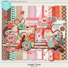 Sweet Love by JB Studio. A 40%off Digi Deal from August 6- 17 but you can get it today (Aug.5) for only US$2.00. at Go Digital Scrapbooking