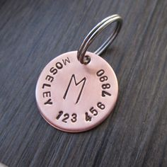 This dog tag will come with a split ring and the tag is made of 18 gauge copper… Pet Accessories, Dog Toys, Cat Toys, Pet Tric