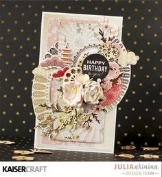 Group Post Featuring Fan Pattern Gold Foil from Hanami Garden Collection - Kaisercraft Official Blog Happy Birthday Julia, Happy Birthday Cards, Asian Cards, Gold Foil Paper, Card Making Inspiration, Ink Pads, Scrapbooking Layouts, Stampin Up Cards, Decorative Boxes