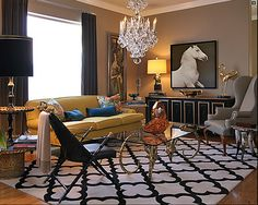 love the lattice work carpet, is that what that is?