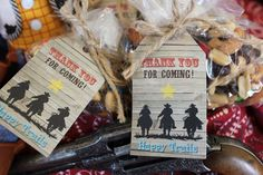 Free Cowboy Party Favor Tags Printable - Instructions & Image available on my Website =)