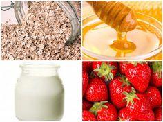 DIY Oatmeal, Honey, Yogurt & Strawberry Face Mask, refreshing summer pick-me-up! Great for acne prone skin too.