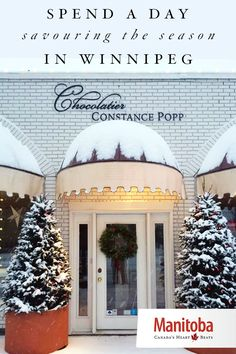 When the lights on Portage Avenue are aglow, and the stores bring out their… Header Design, Bakeries, In A Heartbeat, Wonderful Time, Restaurants, Spirit, Seasons, Lights, Holidays
