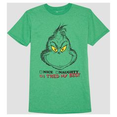 Men's Big & Tall Grinch I Tried My Best T-Shirt - Kelly Green 5XLT