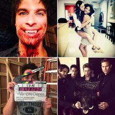 The Vampire Diaries Cast Season 6 Set Pictures