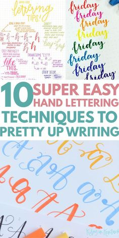 Improve handwriting & up your BULLET JOURNAL FONTS, from hand lettering 101 for beginners to embellishment ideas, to inspire any artist Bullet Journal Fonts Hand Lettering, Hand Lettering 101, Hand Lettering For Beginners, Calligraphy For Beginners, Hand Lettering Tutorial, Hand Lettering Alphabet, Creative Lettering, Handwritten Letters, Brush Lettering