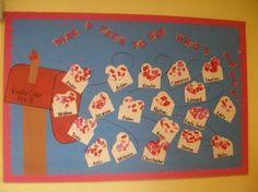 my valentines bulletin board