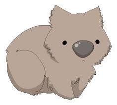 Cartoon Drawings Of Animals, Cute Cartoon Animals, Baby Animals, Cute Animals, Cute Wombat, Baby Wombat, Australian Animals, Australian Nursery, Tribal Art