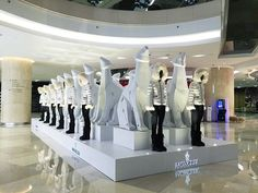 "MONCLER,ION ORCHARD, (Shopping Mall), Singapore, ""On thin ice"", pinned by Ton van der Veer"