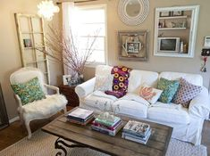 Vintage living room ideas on a budget with rattan corner table
