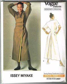 1990 Vogue Designer Issey Miyake Dress Pattern No by NorthBirdsong, $75.00