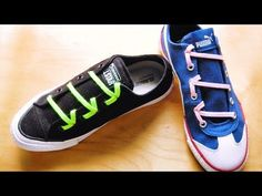 YouTube Tie Shoes, Golf Shoes, Shoes Heels Boots, Heeled Boots, Ways To Tie Shoelaces, Shoe Lacing Techniques, Ways To Lace Shoes, Creative Shoes, Lace Art