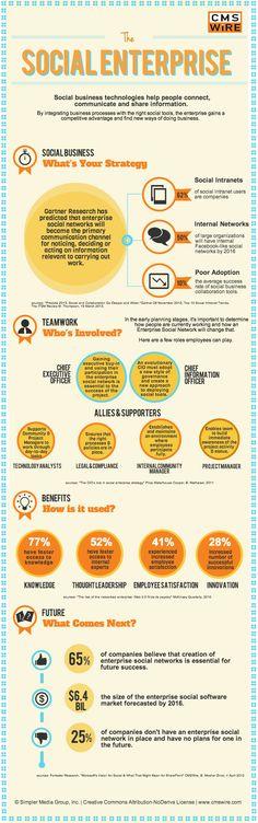 The Social Enterprise [Infographic] via @CMSWire #socialmedia #b2b