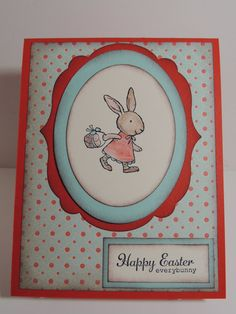 """Stampin Up! Handmade """"Happy Easter everybunny"""" Card"""