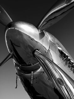 Chrome shot in black and white is so cool.