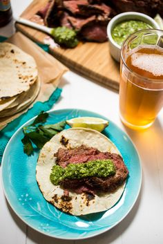 Beer Marinated Ancho Chili Spiced Grilled Lamb - The Girl in the Little Red Kitchen