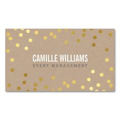 PLAIN BOLD MINIMAL confetti gold eco natural kraft Double-Sided Standard Business Cards (Pack Of 100). This great business card design is available for customization. All text style, colors, sizes can be modified to fit your needs. Just click the image to learn more!
