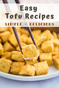I've rounded up 12 of my all-time favorite EASY Tofu Recipes! Most of these meals comes together in 30 minutes or less and are all made with SIMPLE and easy to find ingredients. These are all PERFECT for weeknight dinner (plus a breakfast!) and especially great for those new to cooking with tofu!