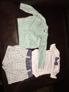 Worn twice by my little boy and this outfit is absolutely precious! Perfect for a Sunday church day or anytime you need a cute outfit. No stains rips or blemishes. Please ask any questions. Newborn