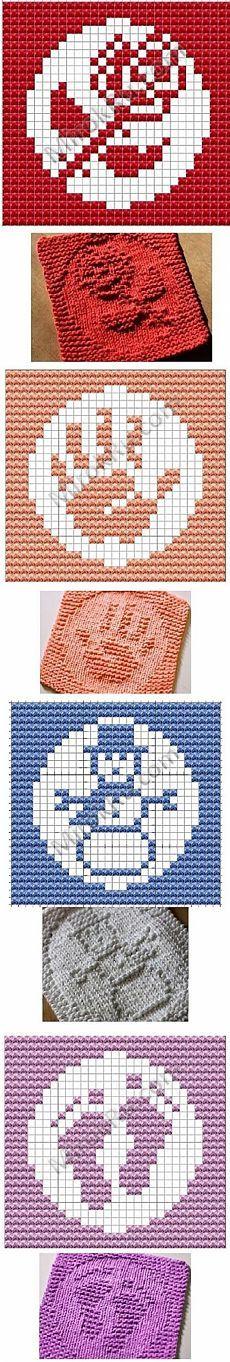 Knitting Squares, Knitting Charts, Loom Knitting, Knitting Stitches, Knitting Patterns Free, Knit Patterns, Baby Knitting, Stitch Patterns, Knitted Washcloths