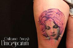 #tattoofriday - Guillaume Smash, França. O artista cria padronagens incríveis em pixels e muitas cores na pele!