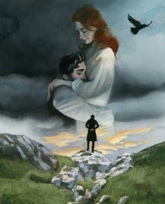 Wuthering Heights Literary work, illustrated and set in a story of revenge and hatred, of unbridled passions and desperate loves by Fernando Vicente Human Figure Sketches, Figure Sketching, Emily Bronte, Love Illustration, Digital Illustration, Satirical Illustrations, Visual Metaphor, Colour Field, Wuthering Heights