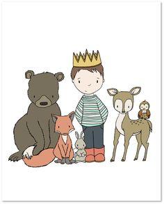 Children Art - Prince of the Wild - Boy Art