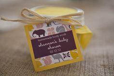 15 Baby Shower Favors They'll Be Excited to Take Home: from my shower to yours - body scrub