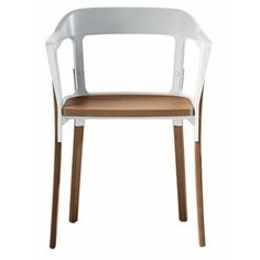 Magis Steelwood Dining Armchair - modern - dining chairs and benches - Wayfair Dining Room Chairs, Dining Room Furniture, Modern Furniture, Art Deco Paris, Contemporary Chairs, Wood And Metal, Chair Design, Armchair, Interior Design