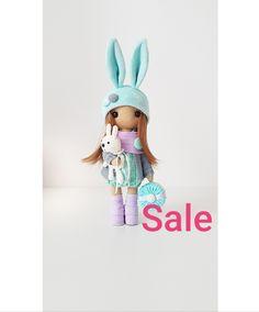 Doll Bunny Handmade soft fabric christmas doll toys rag Textile doll Handmade item interior doll birthday gift home decor Black Friday sale Special Girl, Handmade Items, Handmade Gifts, Black Decor, Fabric Dolls, Girl Gifts, Doll Toys, Soft Fabrics, Black Friday
