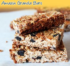 Healthy granola bars made with our Plum Amazins for natural sweetness. http://www.sunsweet.com/recipes/info_breakfast.asp?recipe=granola