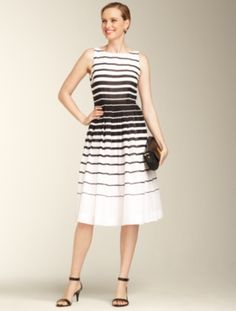 Talbots - Nautical-Stripe Dress ~~