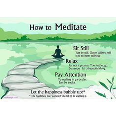 How to Meditate....