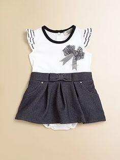 Armani Junior knit and denim dress Armani Kids ea4df920d5d95