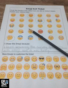 10 ways you can use Emojis in the Classroom. Keep students engaged with with tons of tips & ideas for using Emojis on iPads, computers, and more! 5th Grade Classroom, Middle School Classroom, Classroom Fun, Classroom Activities, Classroom Organization, Classroom Management, Future Classroom, Geography Classroom, English Classroom