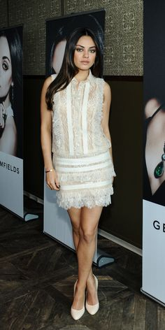 Trend Report: White Cocktail Dresses/ Check out Etcetera's white cocktail dress … - Noel - christmas Cocktail Outfit, White Cocktail Dress, Cocktail Dresses, Mila Kunis, Little White Dresses, Costume, Look Chic, Glam Style, Mode Inspiration