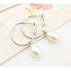 $3.59 Elegant Style Pearl Fringe Earrings