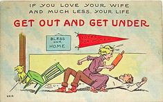 Propaganda Postcards Warn Men about the Dangers of Women's Rights from the Early 20th Century (10)