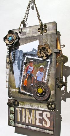 """With A Grin: Tim Holtz & Graphic 45 """"Mag{ic}-netic Mini Board"""" (Bluemoon DT Project)"""