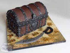 Pirate treasure chest cake                                                                                                                                                                                 More