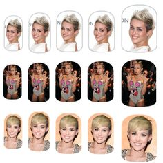 Miley Cyrus Nail Art Decals by NailSpin on Etsy, $6.00