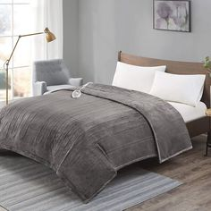 [ADVANCED] Plush Electric Blanket King Size Dual Control, Washable Heated Blankets with Auto Shutoff, Preheat, 20 Heat Levels Queen Size, King Size, Electric Blanket Queen, Heated Throw Blanket, Teen Boy Bedding, Grey Bedding, Best Weighted Blanket, Winsome Wood, Table Shelves