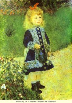 Pierre-Auguste Renoir. A Girl with a Watering-Can. 1876. Oil on canvas. The National Gallery of Art, Washington, DC,