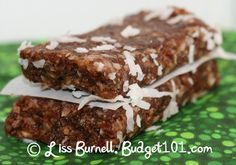 Budget101.com: Girl Scount Samoa Cookie Homemade Larabars and 20+ Copycat Lara Bars Variations!