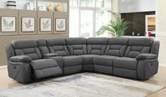 Coaster Camargue Motion Collection 600370 Sectional Sofa with Left Arm Facing Power Reclining Loveseat, Wedge, Armless Chair and Right Arm Facing Power Recliner in Grey Clearance Outdoor Furniture, Best Outdoor Furniture, Fine Furniture, Rustic Furniture, Antique Furniture, Furniture Ideas, Furniture Sale, Industrial Furniture, Furniture Online