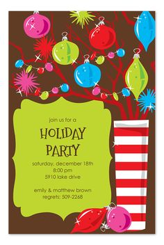 7032c5dcef49  Festive Branches  by Invitation Consultants - This Grinch inspired holiday  invite looks like something